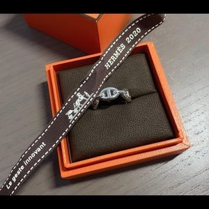 Authentic Hermes Chaine d'Ancre Enchainee ring